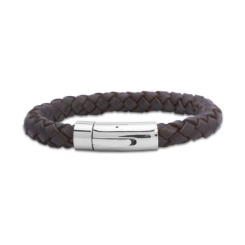 Gent's thick leather bracelet