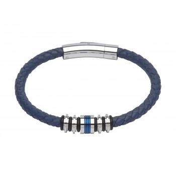 Gent's blue and steel bracelet