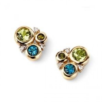 Multi Stone Earrings
