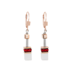 Red GeoCUBE Earrings
