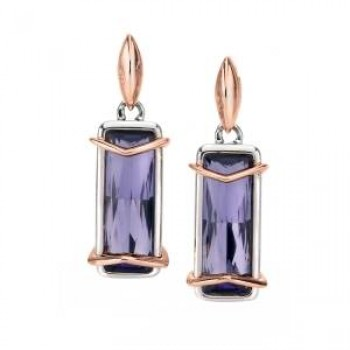 Fiorelli Purple Swarovski Crystal Earrings