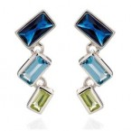 Fiorelli Blue Cubic Zirconia Earrings