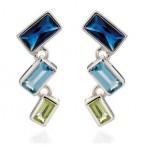Fiorelli Blue Cubic Zirconia Earrings