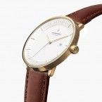 Philosopher gold plated strap watch
