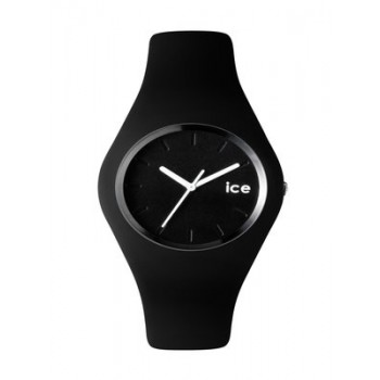 ICE 'Crazy' Black Silicon Bracelet Watch
